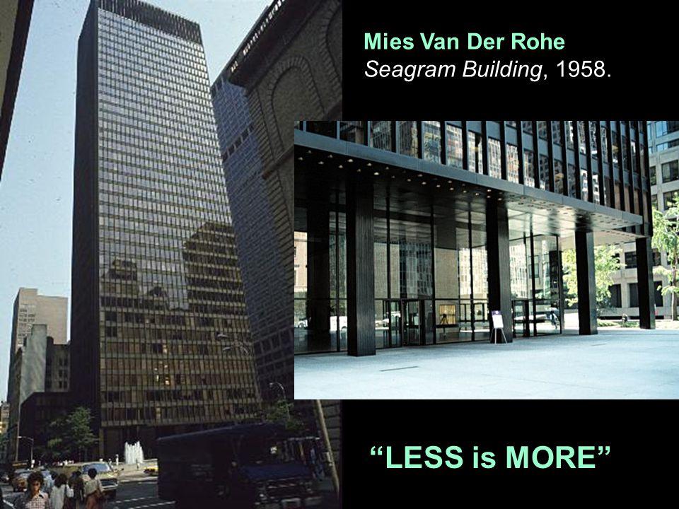 Mies Van Der Rohe Seagram Building, 1958.