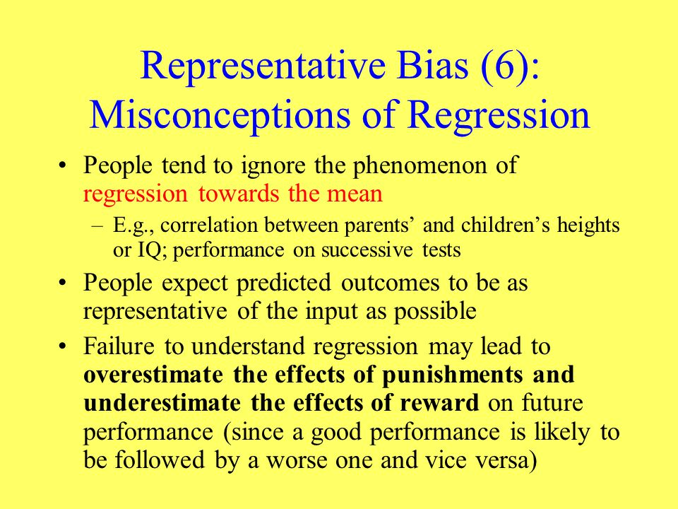 Representative Bias (6): Misconceptions of Regression