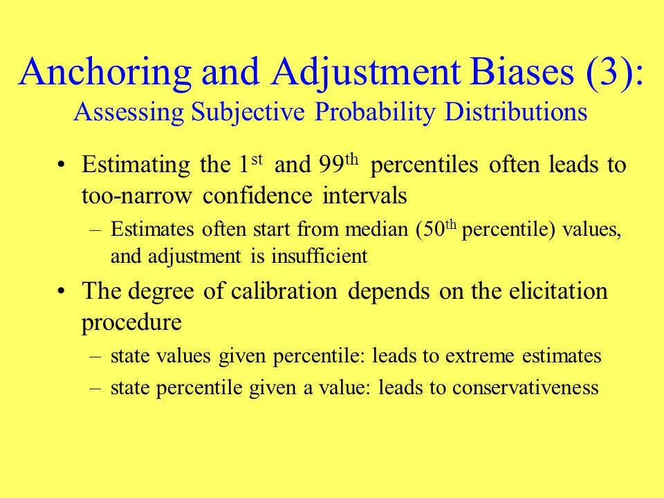 Anchoring and Adjustment Biases (3): Assessing Subjective Probability Distributions