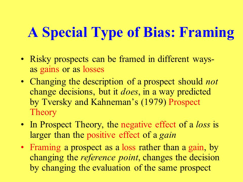 A Special Type of Bias: Framing