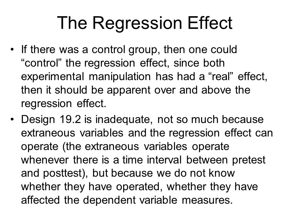 The Regression Effect