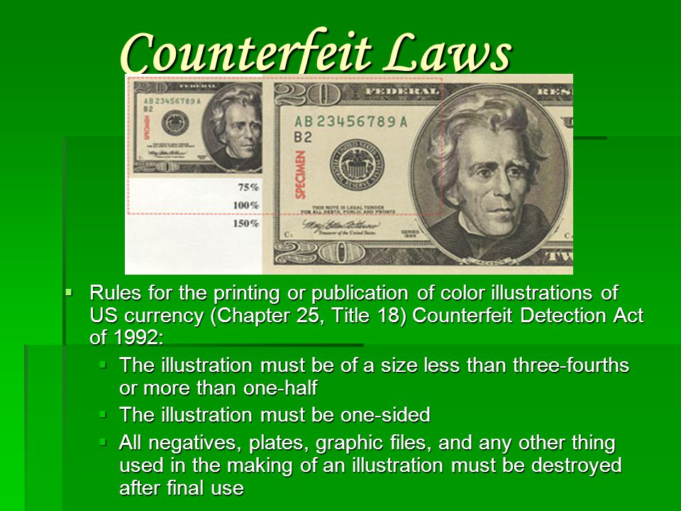 Counterfeit Laws