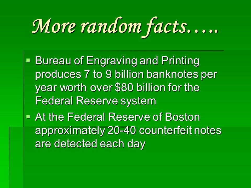 More random facts…..