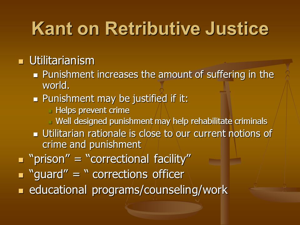 Kant on Retributive Justice
