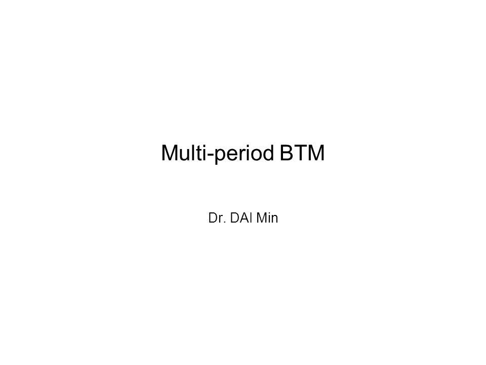 Multi-period BTM Dr. DAI Min