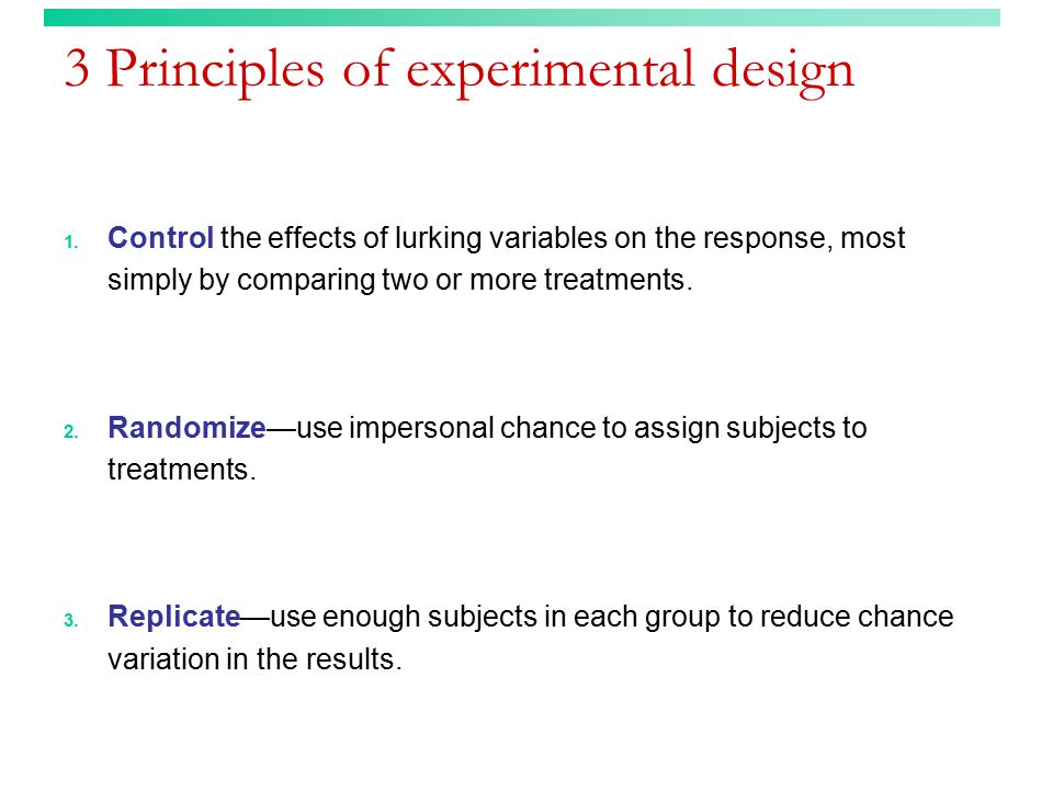 3 Principles of experimental design