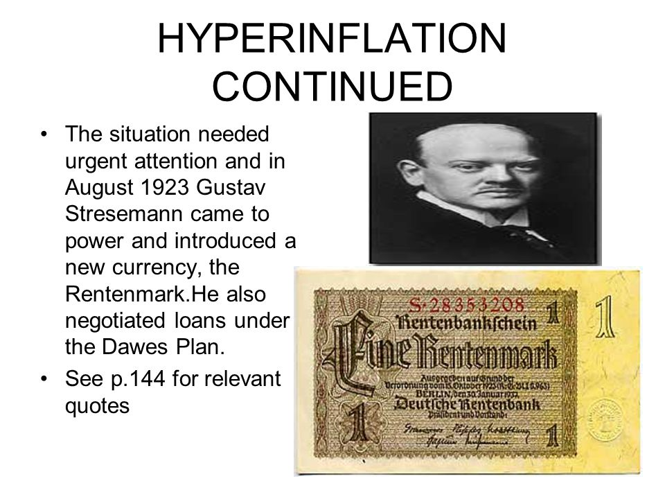 HYPERINFLATION CONTINUED
