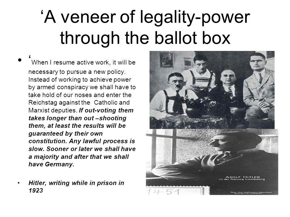 'A veneer of legality-power through the ballot box
