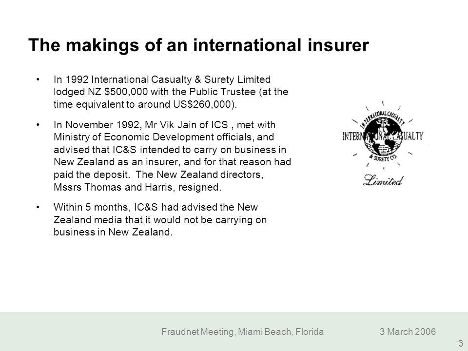 The makings of an international insurer