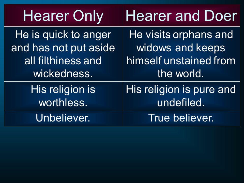 Hearer Only Hearer and Doer