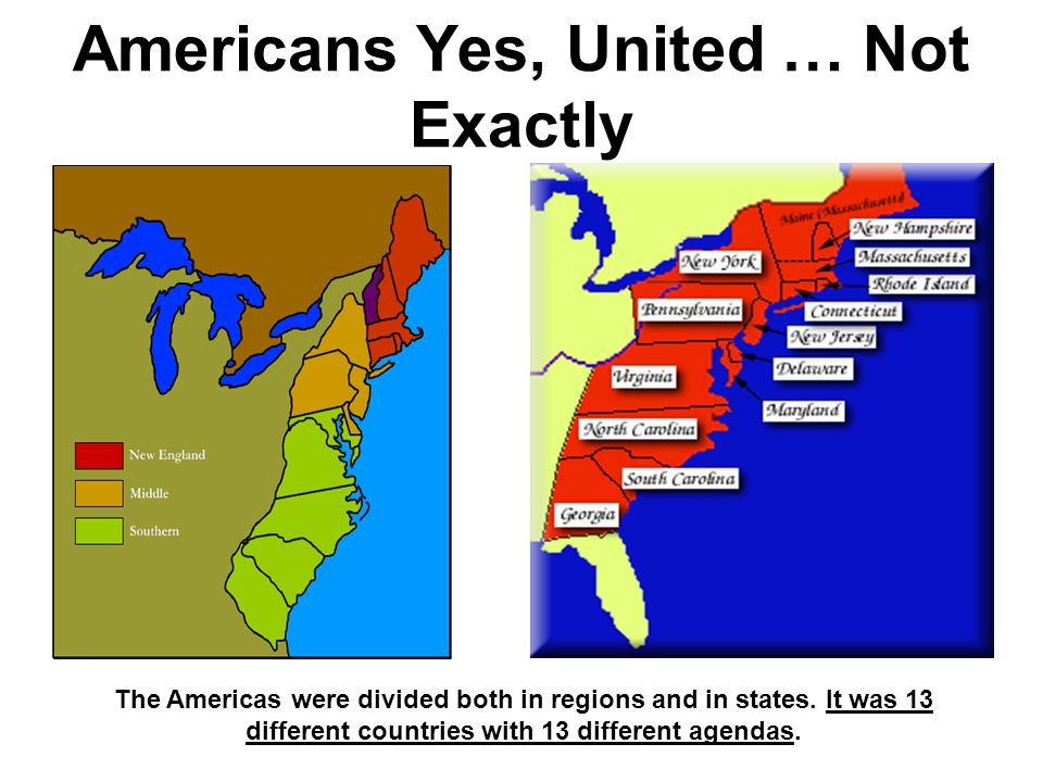 Americans Yes, United … Not Exactly