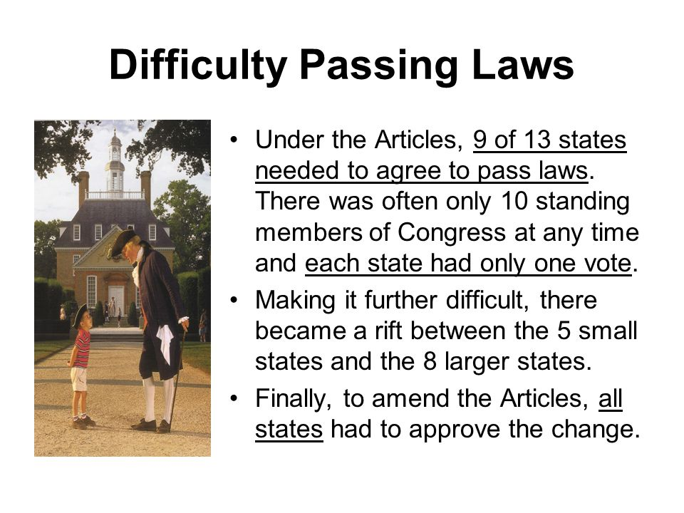 Difficulty Passing Laws