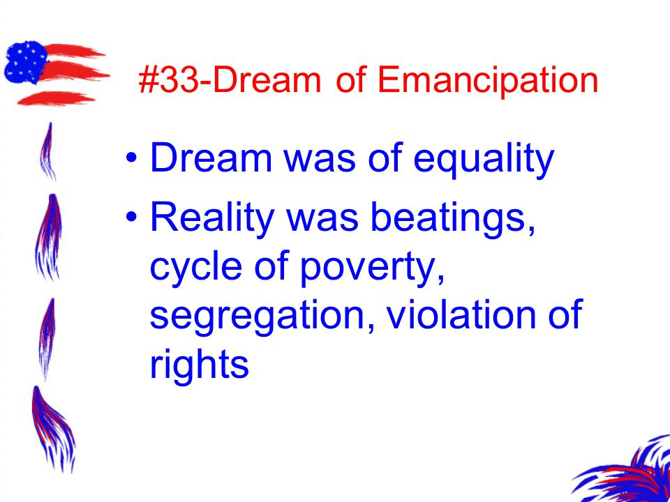 #33-Dream of Emancipation