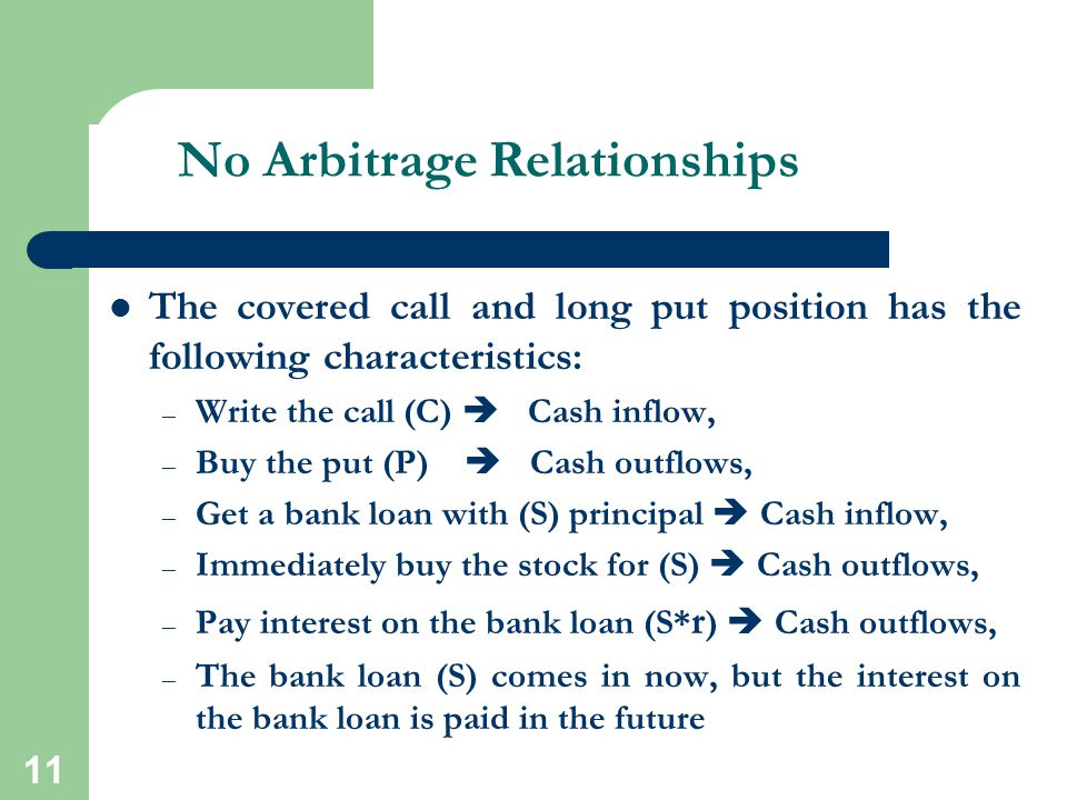 No Arbitrage Relationships