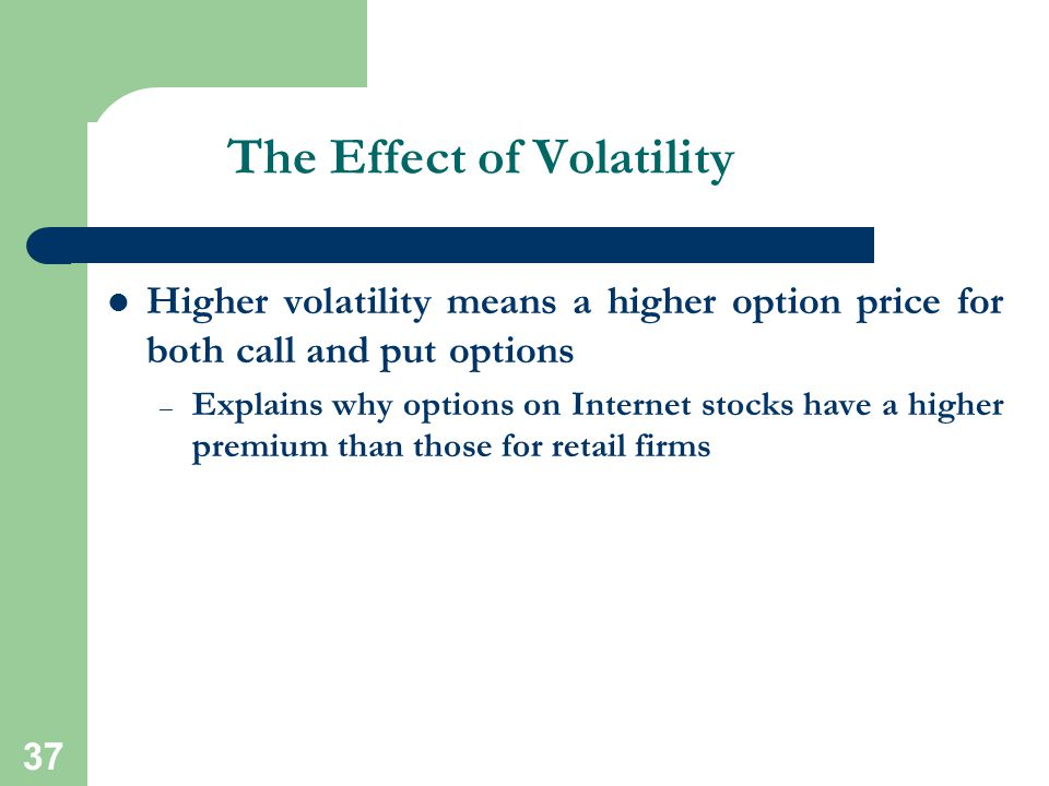 The Effect of Volatility