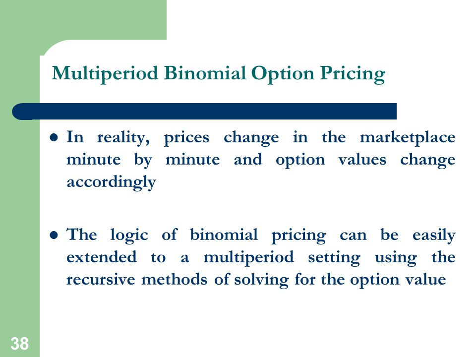 Multiperiod Binomial Option Pricing