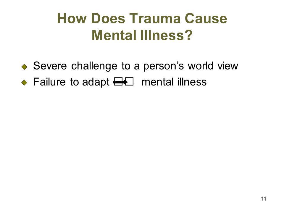 How Does Trauma Cause Mental Illness