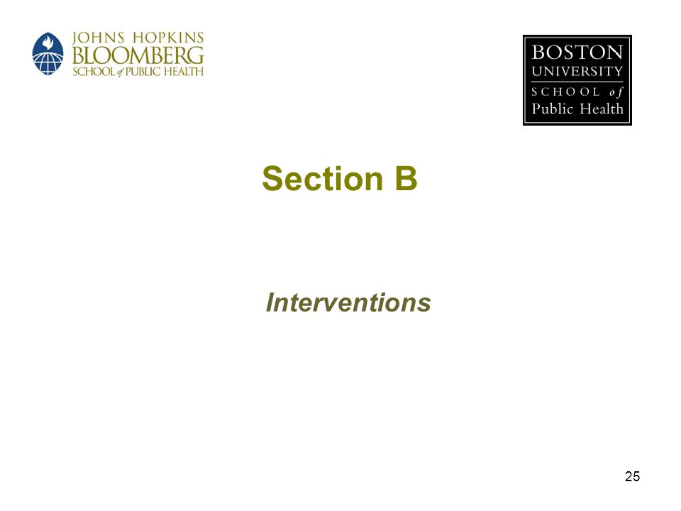 Section B Interventions