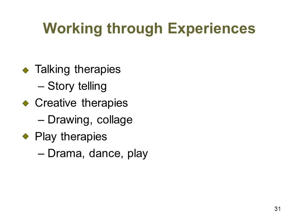 Working through Experiences