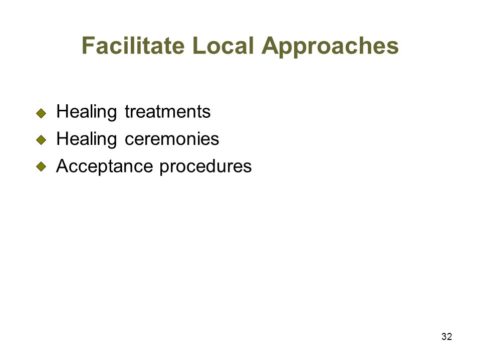 Facilitate Local Approaches