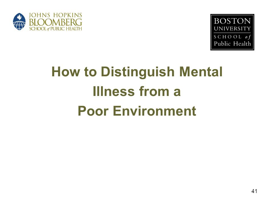 How to Distinguish Mental