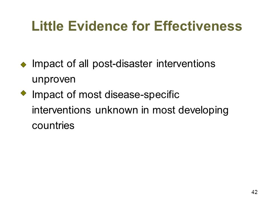 Little Evidence for Effectiveness