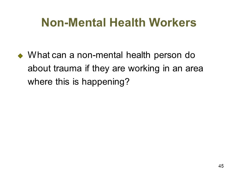 Non-Mental Health Workers