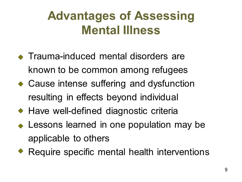 Advantages of Assessing Mental Illness