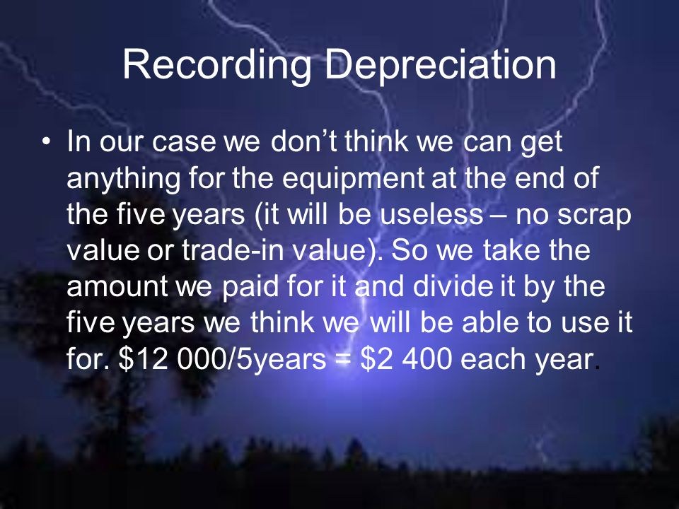 Recording Depreciation