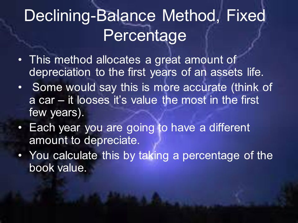 Declining-Balance Method, Fixed Percentage