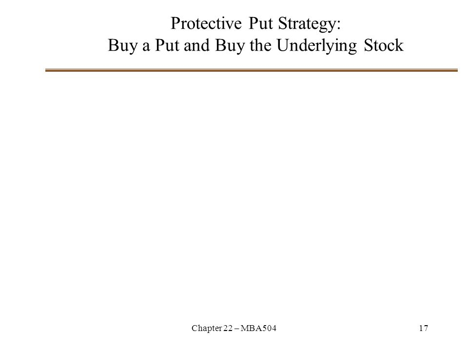 Protective Put Strategy: Buy a Put and Buy the Underlying Stock
