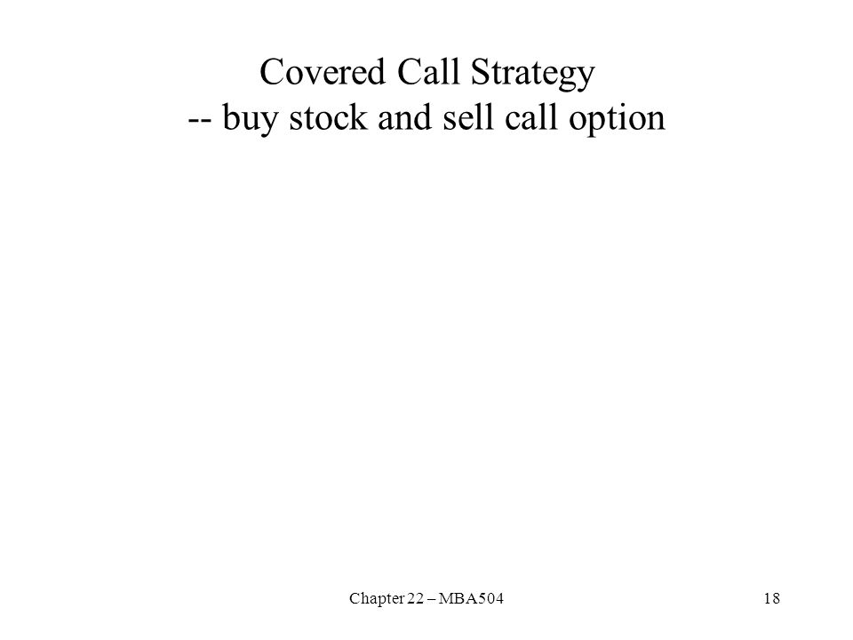Covered Call Strategy -- buy stock and sell call option