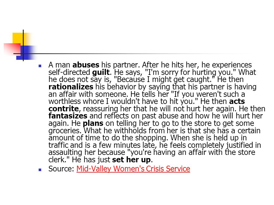 A man abuses his partner