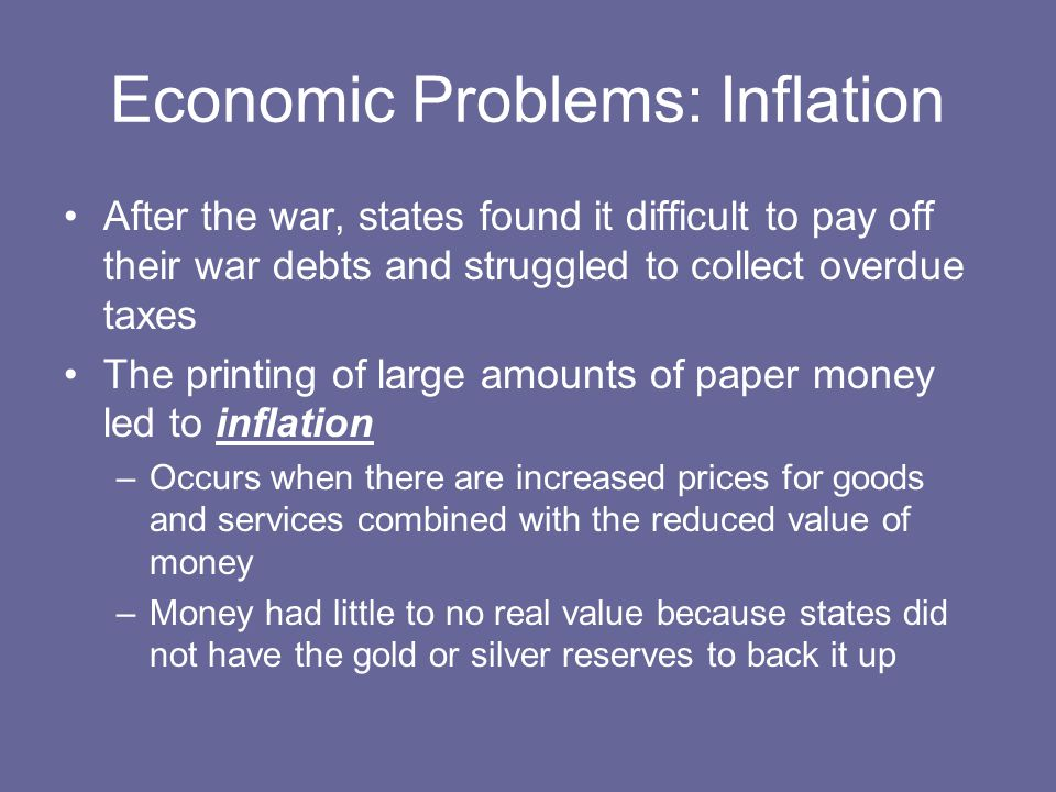 Economic Problems: Inflation