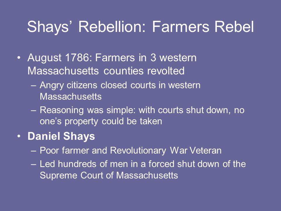 Shays' Rebellion: Farmers Rebel