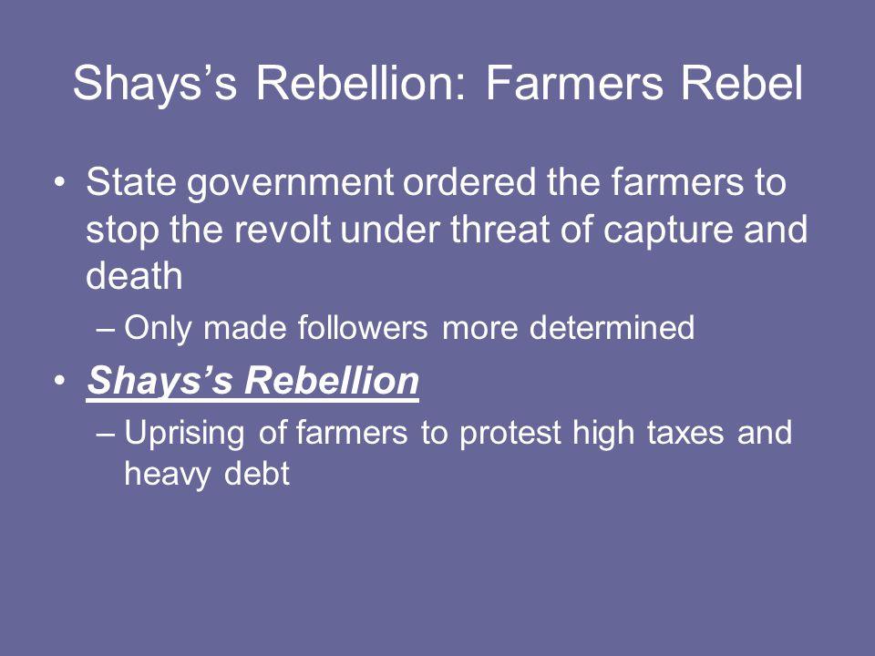 Shays's Rebellion: Farmers Rebel