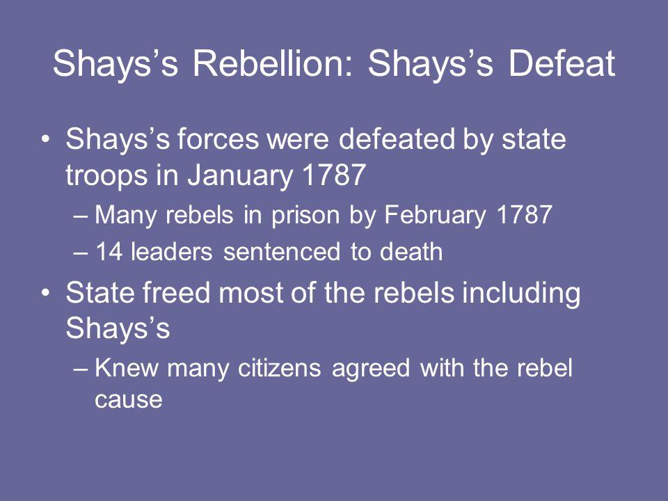 Shays's Rebellion: Shays's Defeat