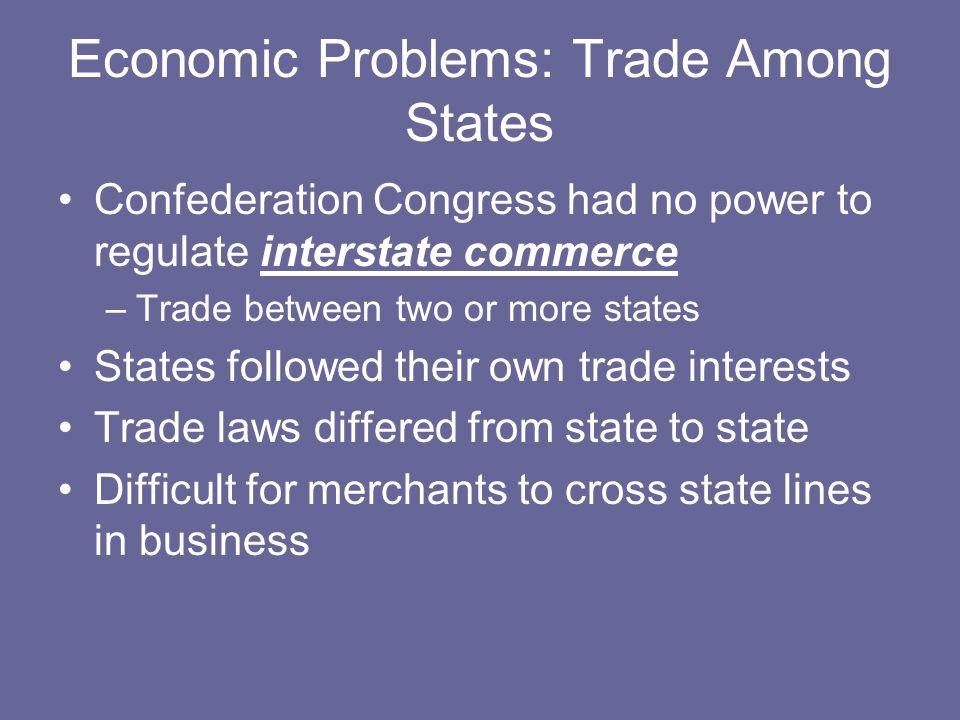 Economic Problems: Trade Among States