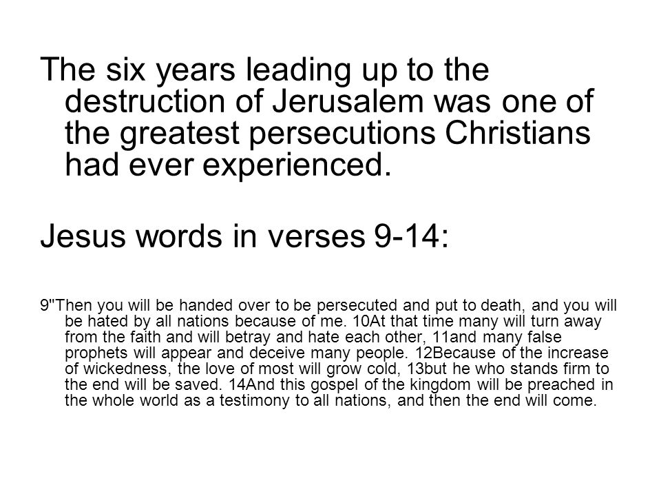 Jesus words in verses 9-14: