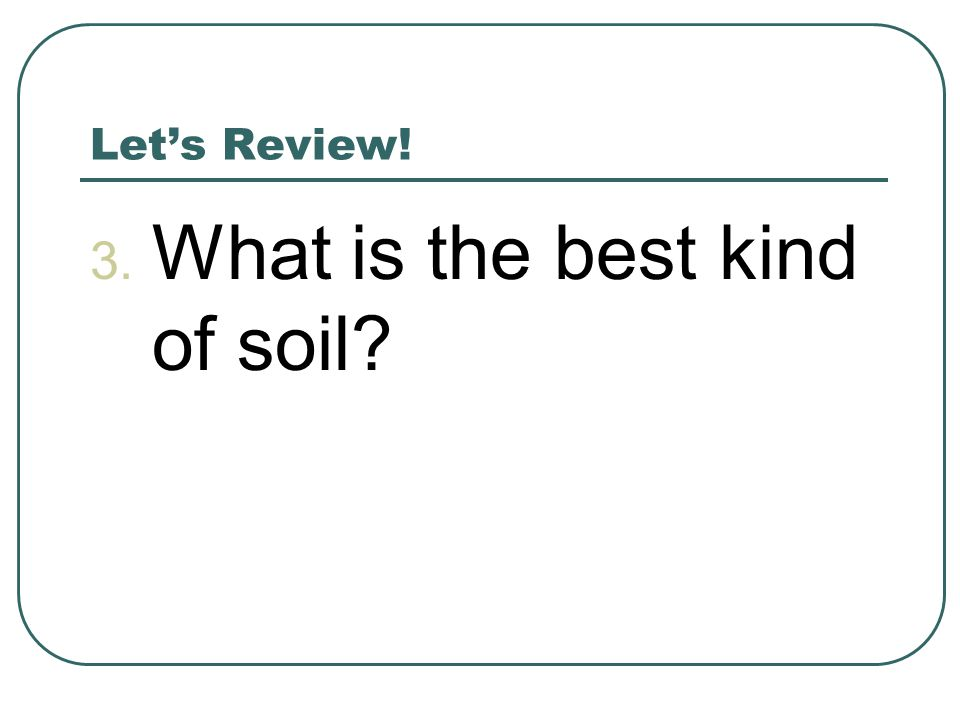 What is the best kind of soil