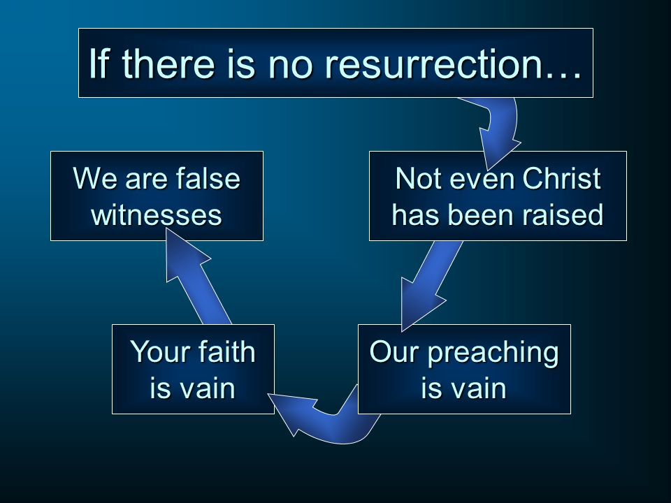 If there is no resurrection…