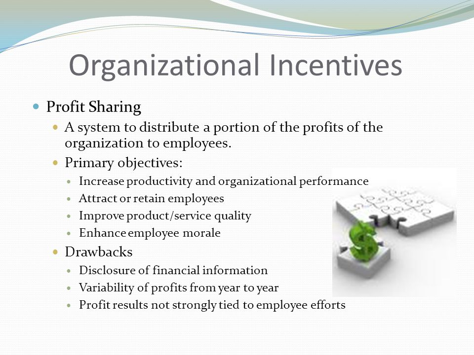 Organizational Incentives