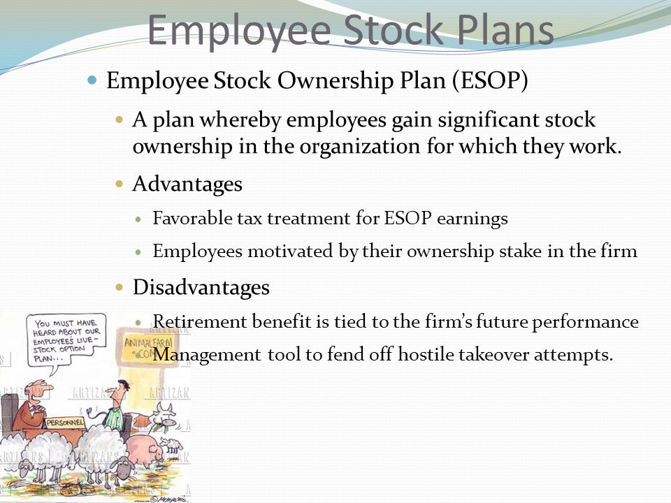 Employee Stock Plans Employee Stock Ownership Plan (ESOP)