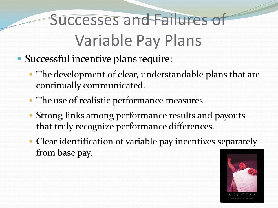 Successes and Failures of Variable Pay Plans