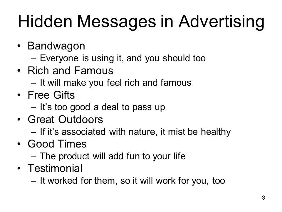 Hidden Messages in Advertising