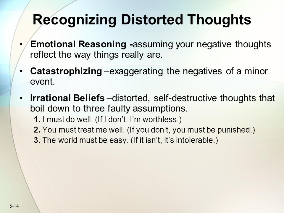 Recognizing Distorted Thoughts