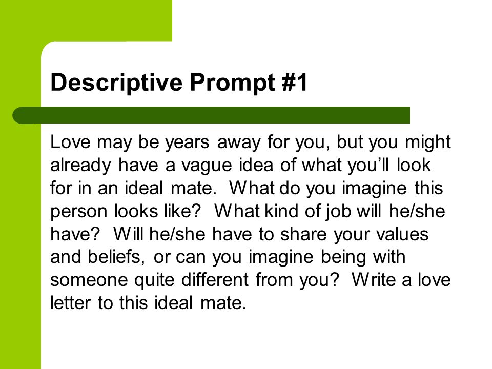 Descriptive Prompt #1
