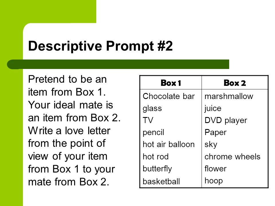 Descriptive Prompt #2