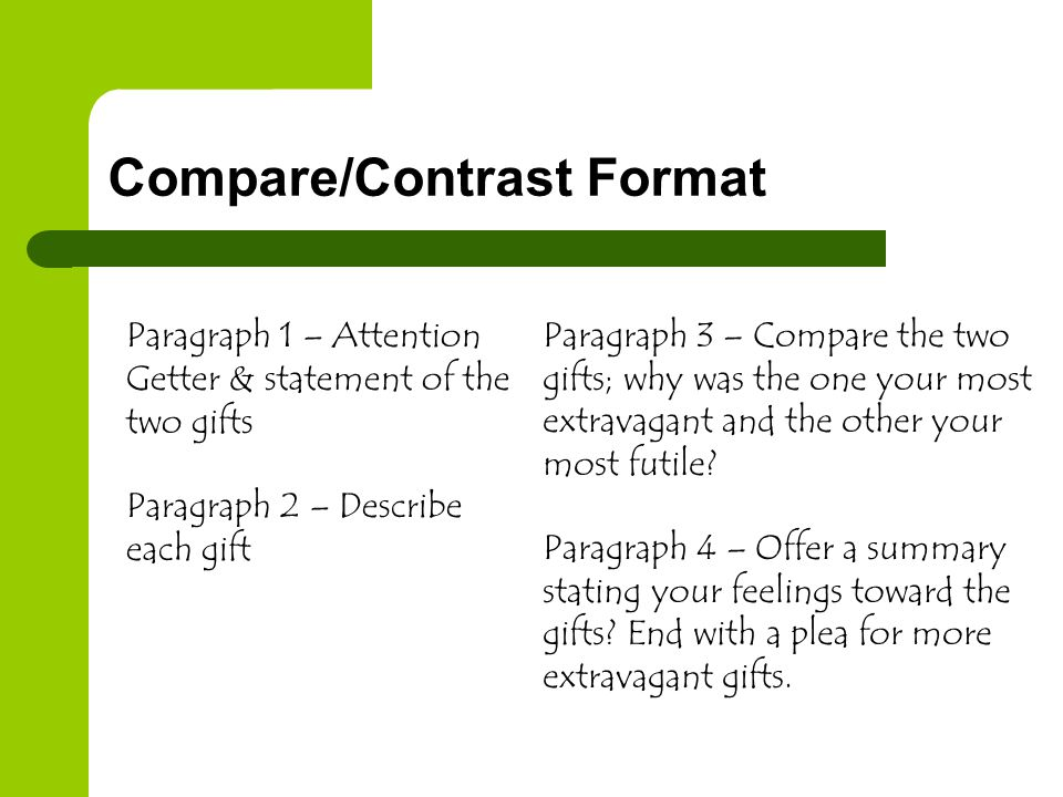 Compare/Contrast Format