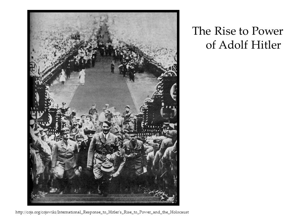 The Rise to Power of Adolf Hitler